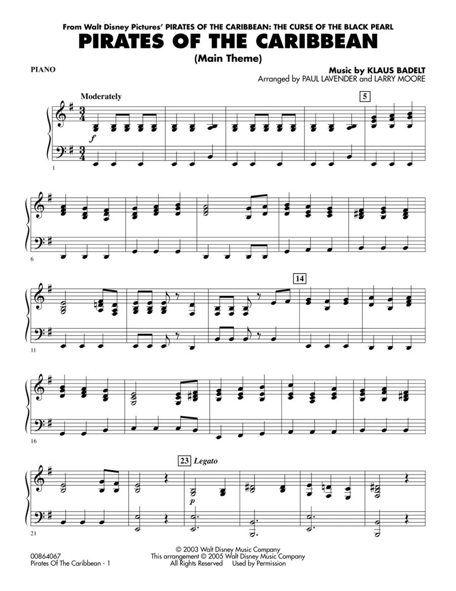 Ноты для флейты пираты карибского моря