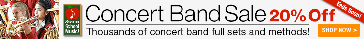 20% Off concert band full sets and methods!