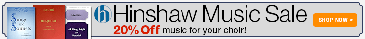 Hinshaw Music Sale