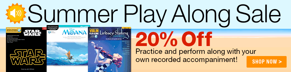 Summer Play Along Sale - 20% off - Practice and perform along with your own recorded accompaniment!