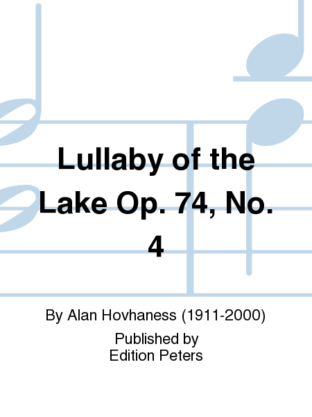 Lullaby of the Lake Op. 74, No. 4