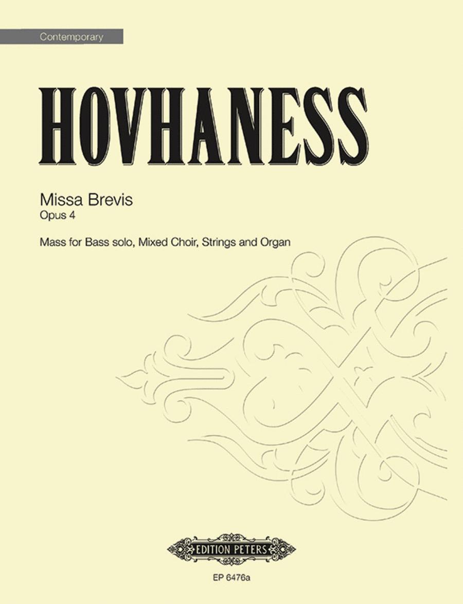 Missa Brevis Op. 4 (Choral Score)