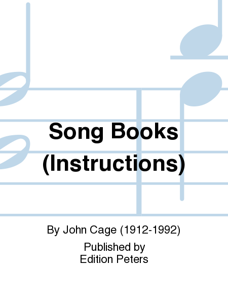 Song Books (Instructions)