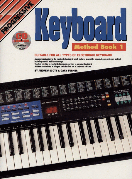 Progressive Keyboard Method Book 1 (Book/CD/DVD)