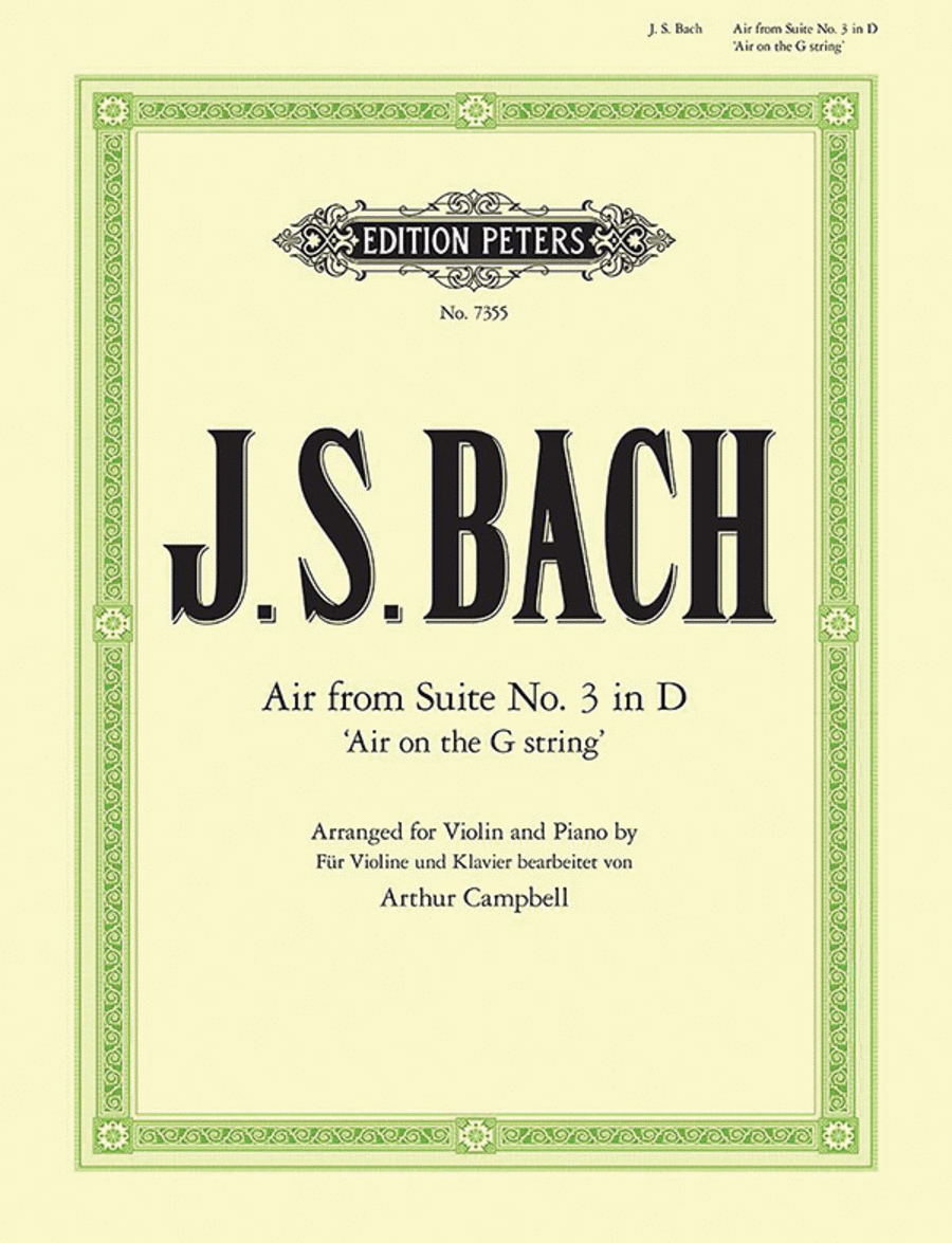 Air from the Orchestral Suite No. 3 in D BWV 1068