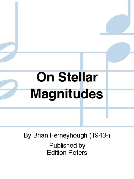 On Stellar Magnitudes