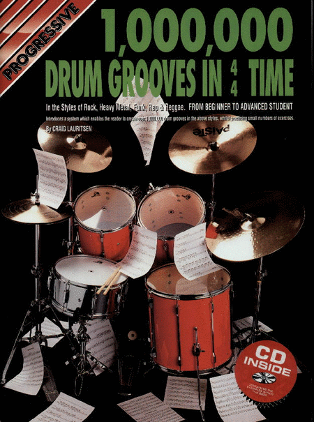 Progressive 1 Million Drum Grooves (Book/CD)