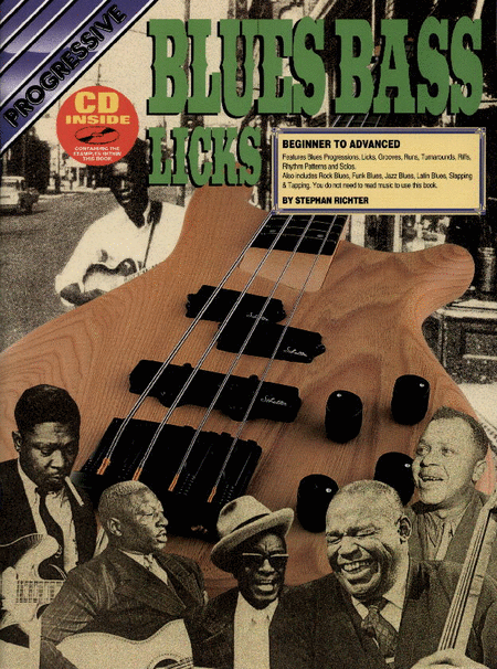 Progressive Blues Bass Licks (Book/CD)