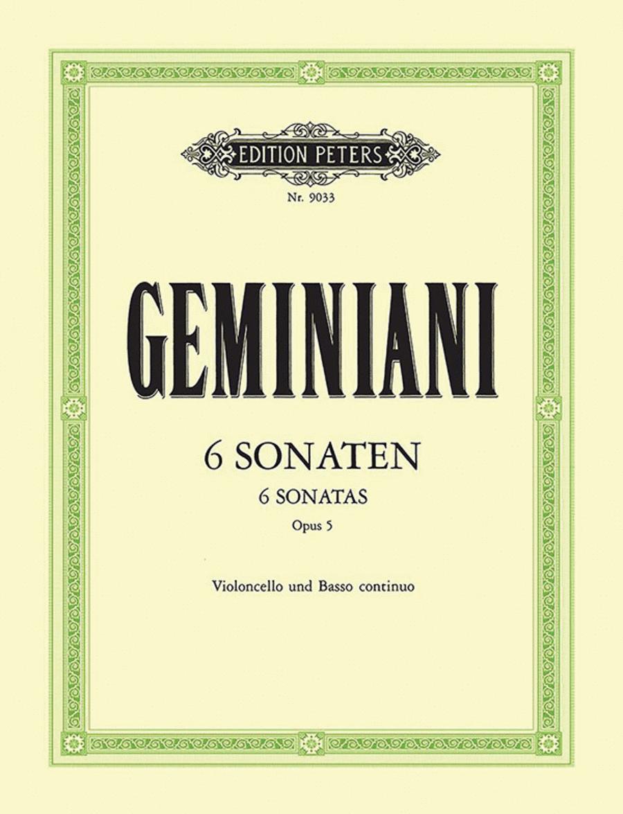 Sonatas (6) for Cello and Basso Continuo Op.5