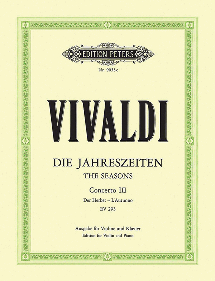The Four Seasons Op.8: No.3 in F 'Autumn'