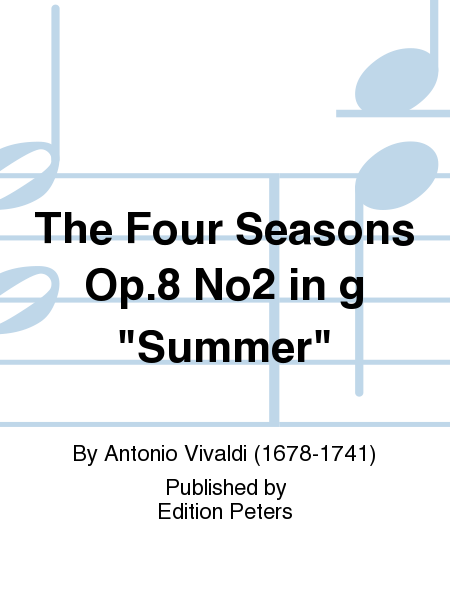 The Four Seasons Op.8 No2 in g