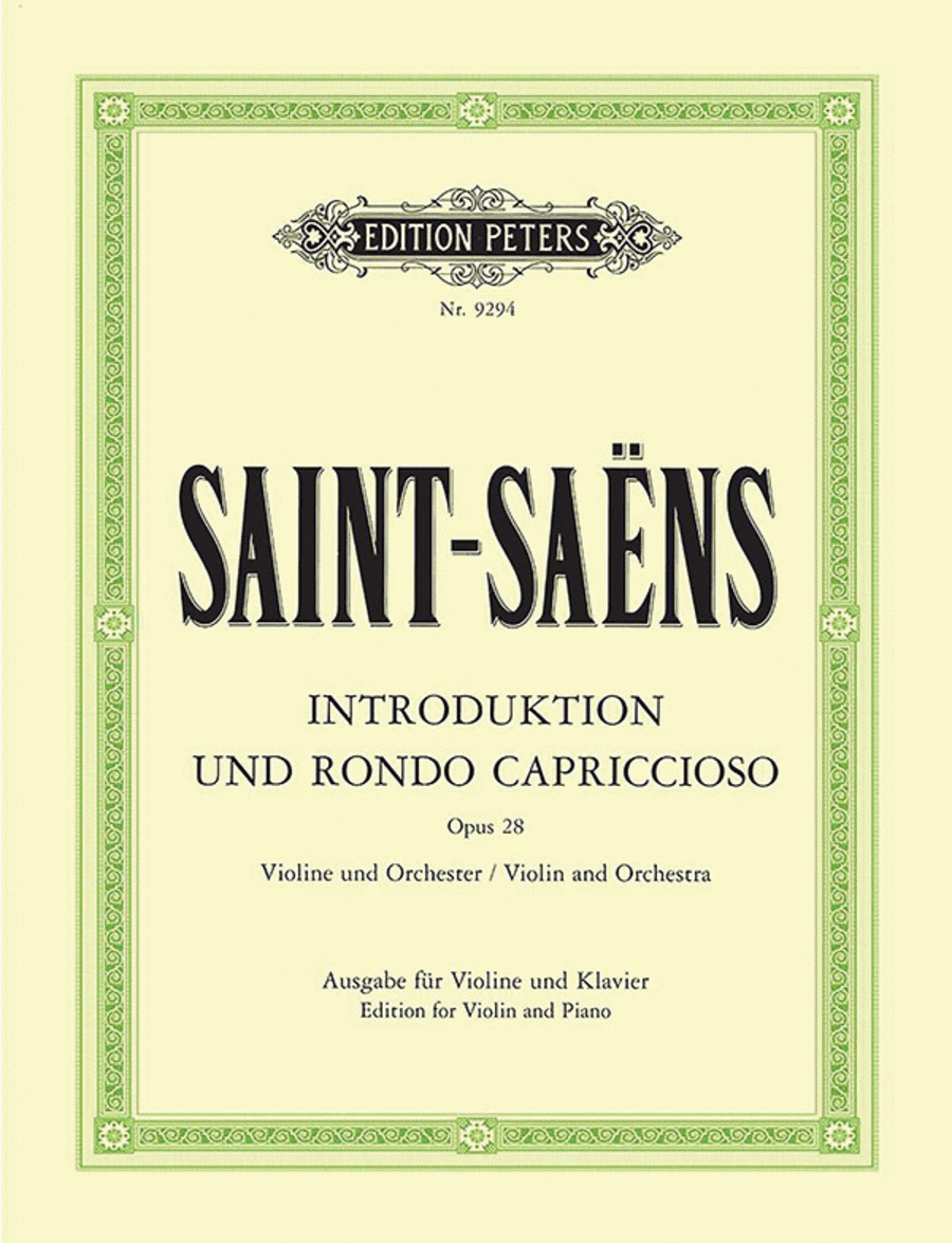 Introduction and Rondo capriccioso Op. 28