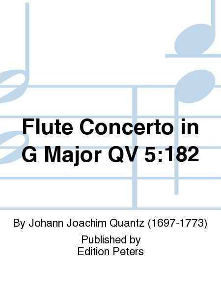 Flute Concerto in G Major QV 5:182