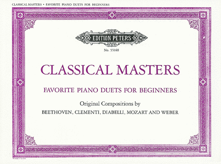 Classical Masters - Favorite Piano Duets for Beginners