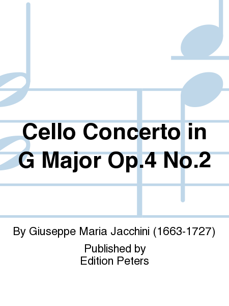 Cello Concerto in G Major Op.4 No.2