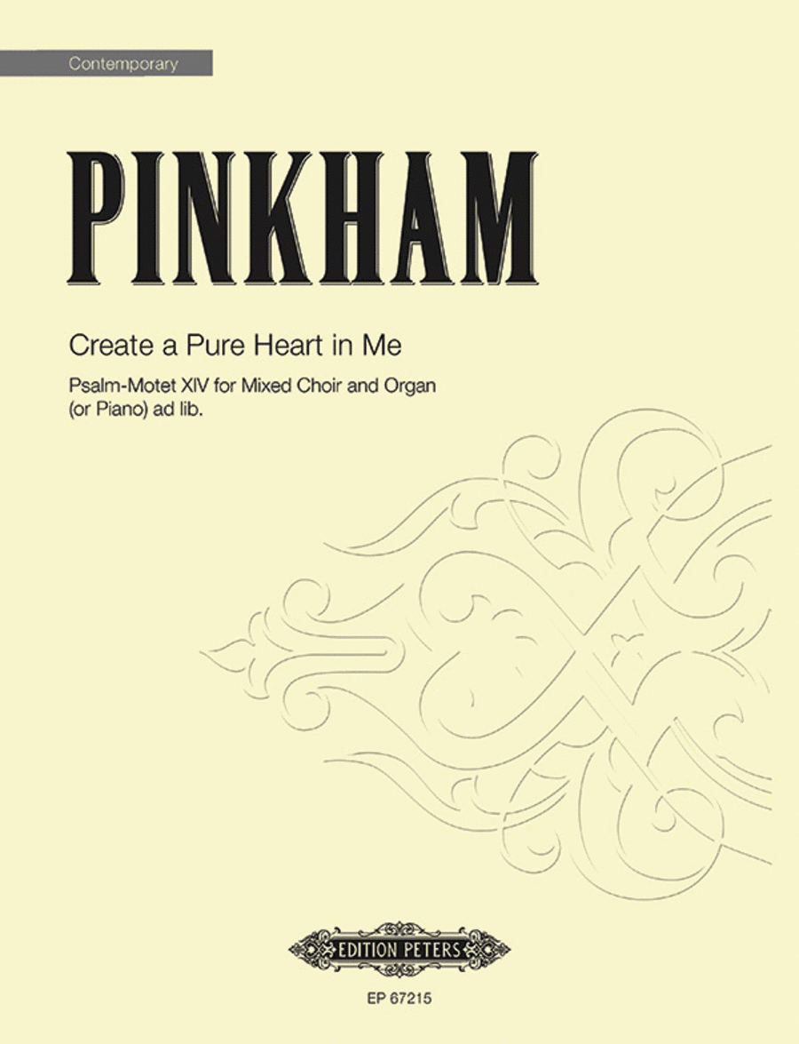 Create a Pure Heart in Me (Psalm-Motet XIV)