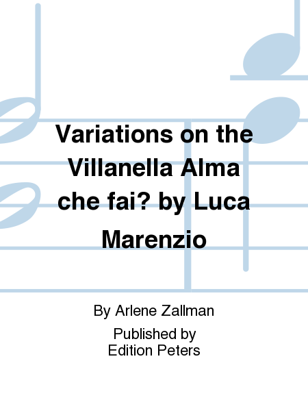 Variations on the Villanella