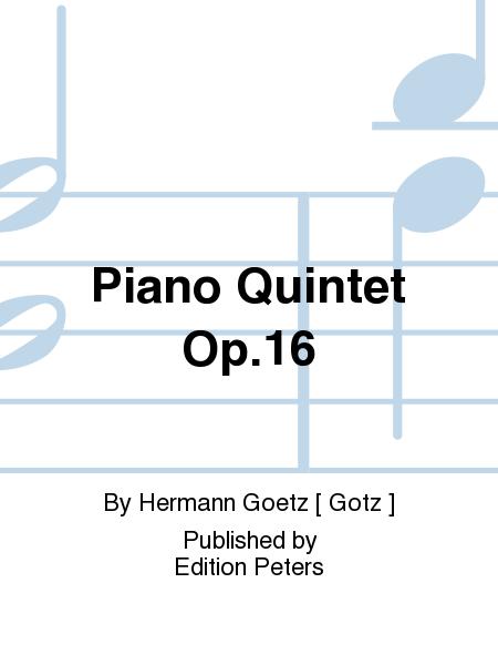 Piano Quintet Op. 16