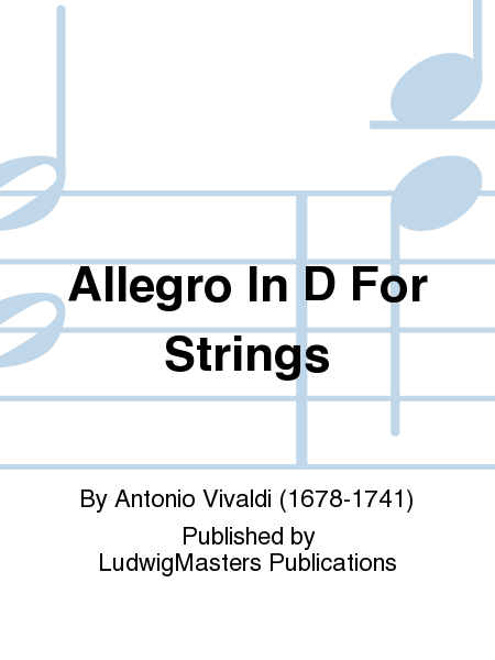 Allegro In D For Strings