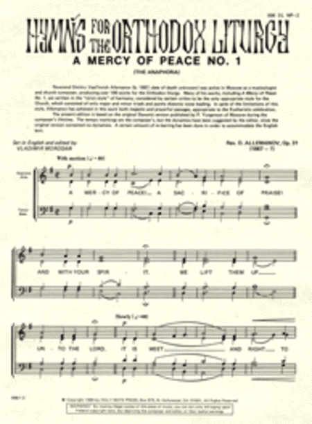 A Mercy of Peace