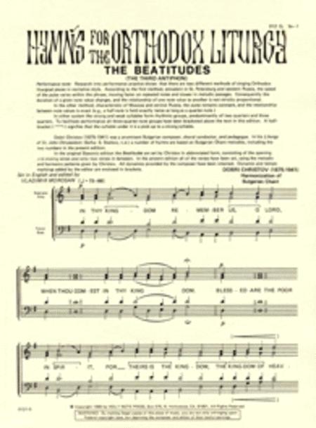Beatitudes... Come, Let Us Worship