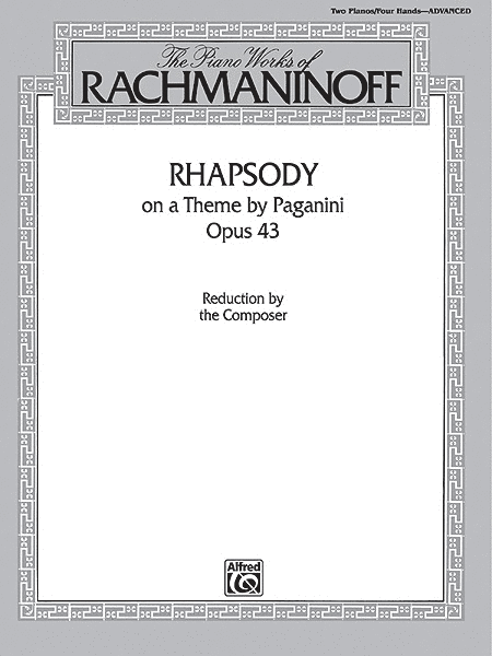 Rhapsody On A Theme By Paganini, Opus 43