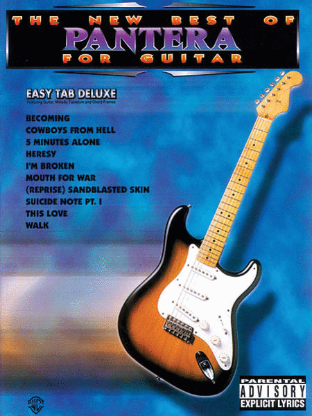 The New Best Of Pantera For Guitar - Easy Guitar