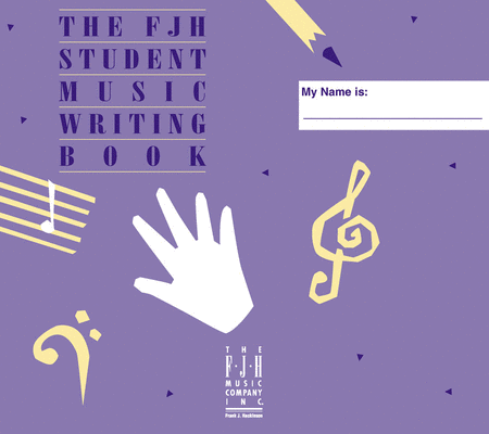 Student Music Writing Book