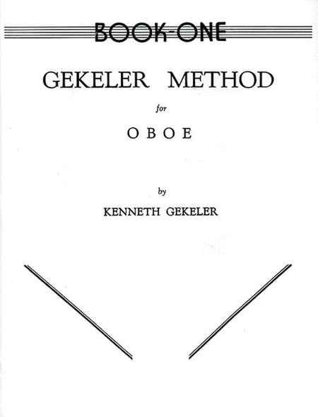 Gekeler Method for Oboe - Book I