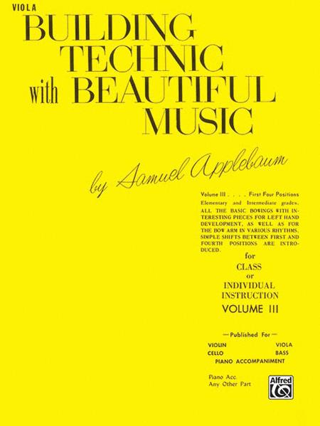 Building Technic with Beautiful Music - Volume III (Viola)