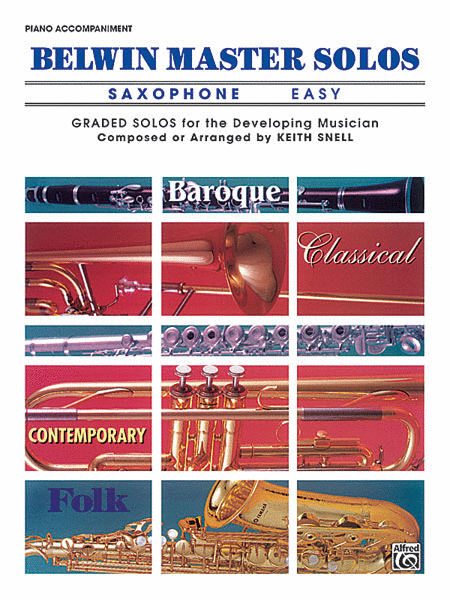 Belwin Master Solos (Alto Saxophone), Volume 1
