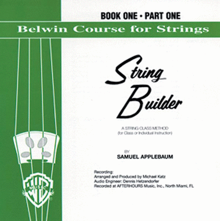 Belwin String Builder Accompaniment Recordings, Book 1
