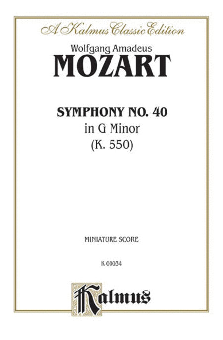 Symphony No. 40 in G Minor, K. 550