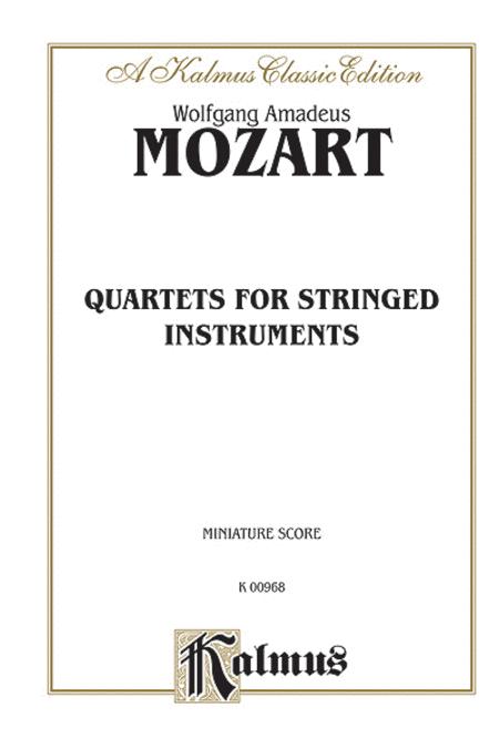 String Quartets K. 80, 155, 156, 157, 158, 159, 160, 168, 169, 170, 171, 172, 173