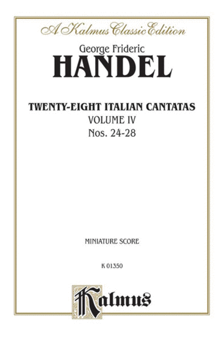 28 Italian Cantatas with Instruments, Nos. 24-28 (Mostly for Soprano), Volume 4