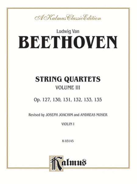 String Quartets, Volume 3