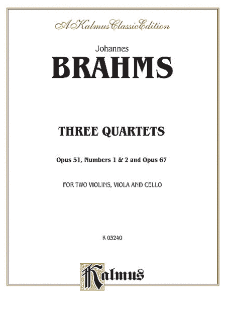 Three String Quartets, Op. 51, Nos. 1 & 2, Op. 67