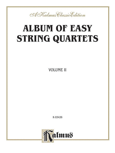 Album of Easy String Quartets, Volume II