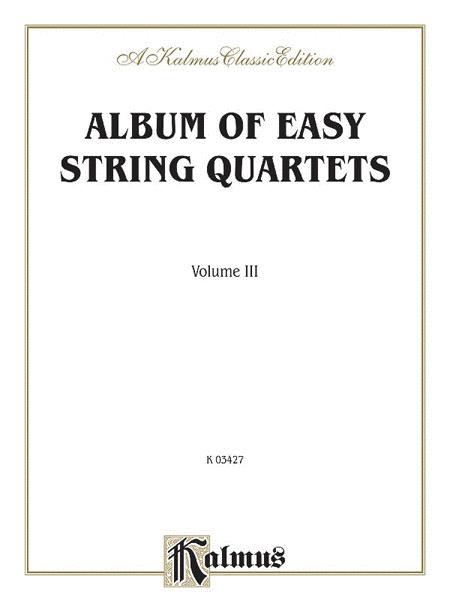 Album of Easy String Quartets, Volume 3