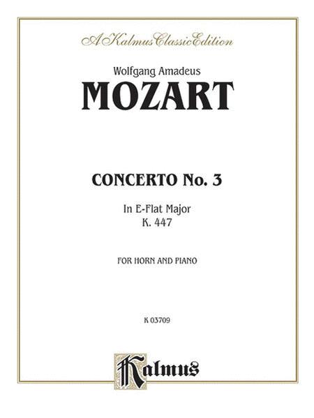 Horn Concerto No. 3 in E-flat Major, K. 447 (Orch.)