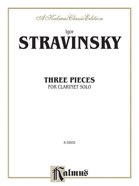 Three Pieces for Clarinet Solo (unaccompanied)