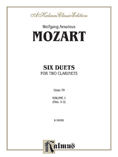 Six Duets For Two Clarinets, Volume I (Nos. 1-3)