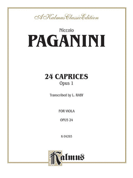 Twenty-four Caprices, Op. 1
