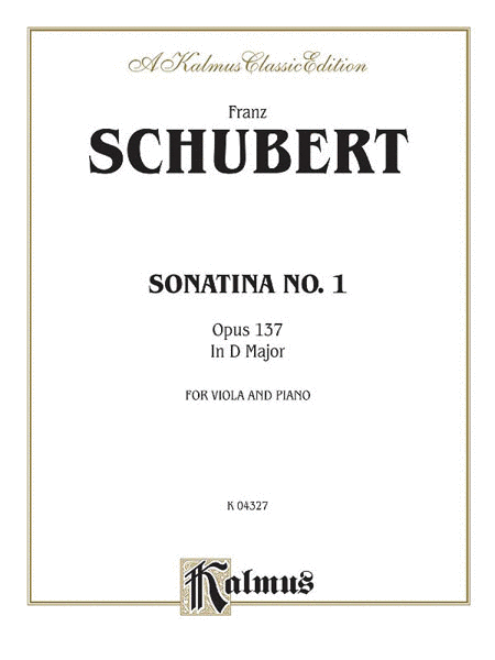 Sonatina No. 1 in D Major, Op. 137