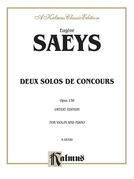 Deux Solos de Concours, Op. 130 (Urtext)