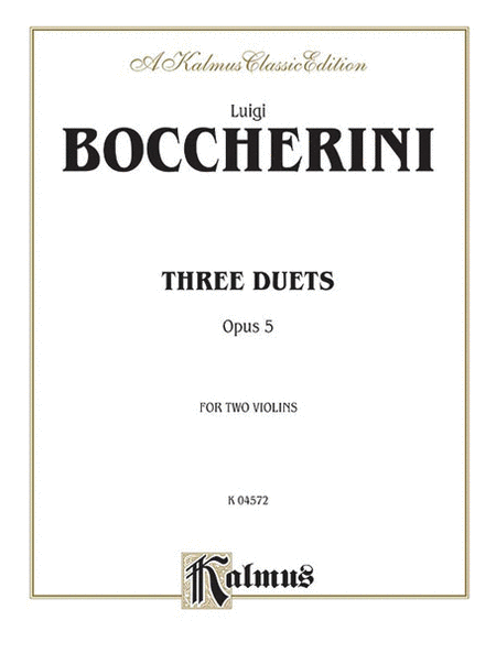 Three Duets, Op. 5