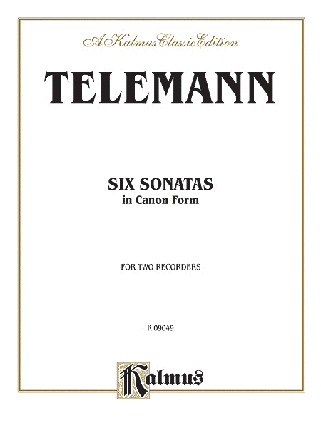Six Sonatas in Canon Form