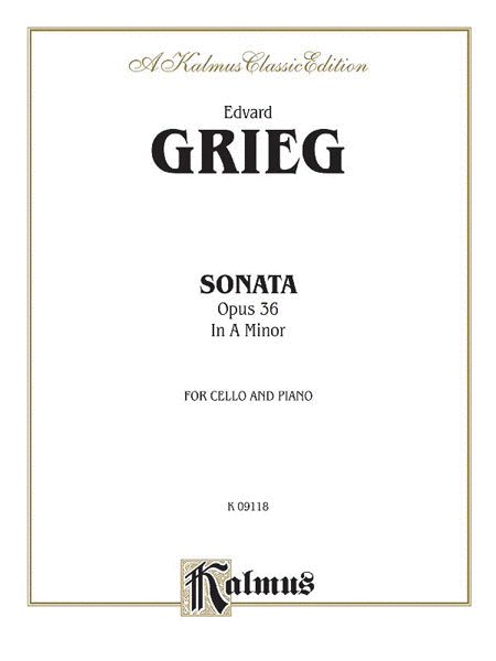 Cello Sonata in A Minor, Op. 36