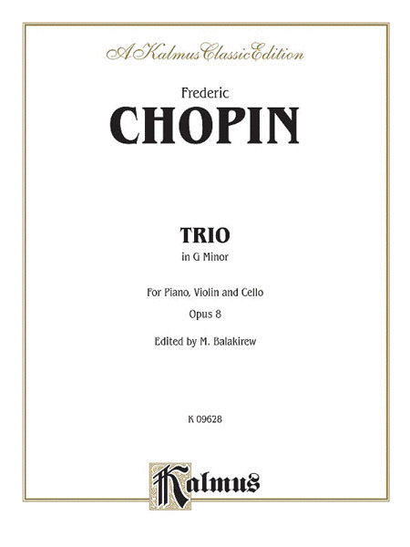 Piano Trio in G Minor, Op. 8