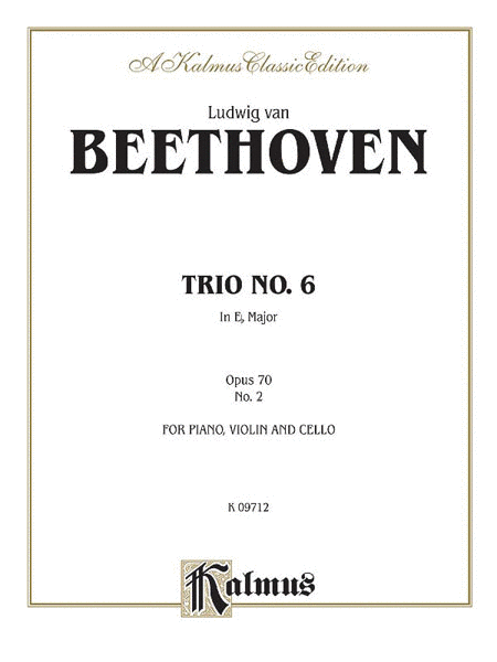 Piano Trio No. 6 -- Op. 70, No. 2